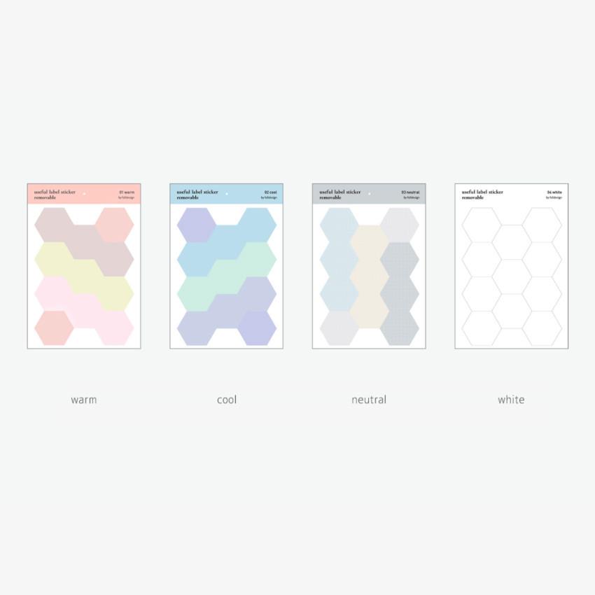 Color - Byfulldesign Useful label removable sticker set