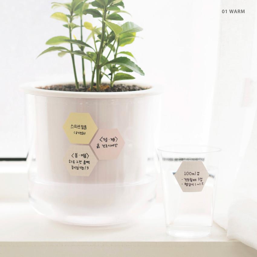 01 Warm - Byfulldesign Useful label removable sticker set