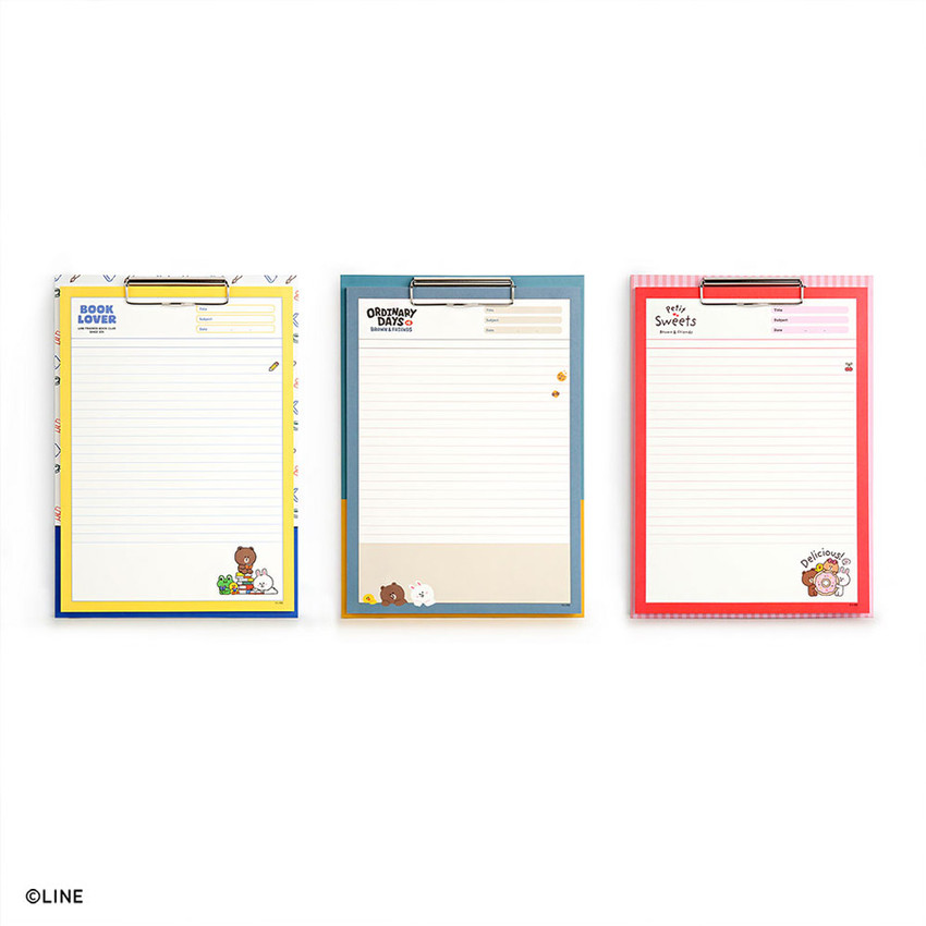 Monopoly Brown and friends A4 size clipboard notepad set