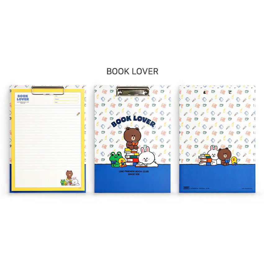 Book Lover - Monopoly Brown and friends A4 size clipboard notepad set