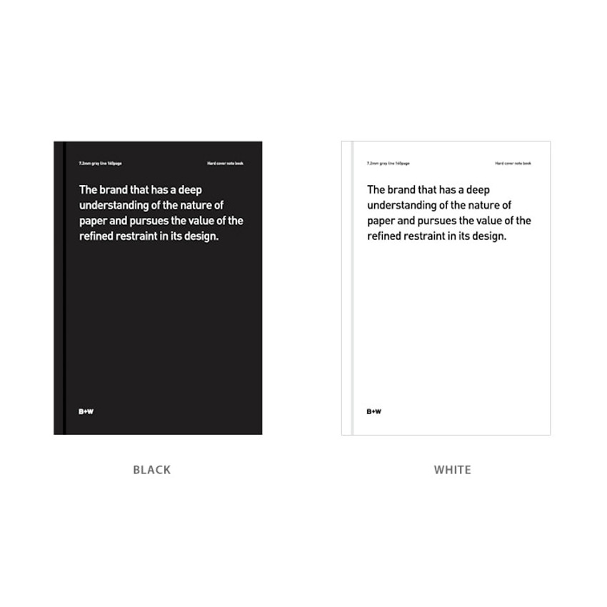 Color - Ardium B+W A5 size hardcover lined notebook