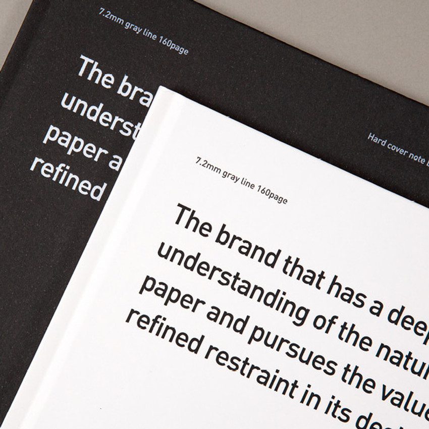 Hardcover - Ardium B+W A5 size hardcover lined notebook