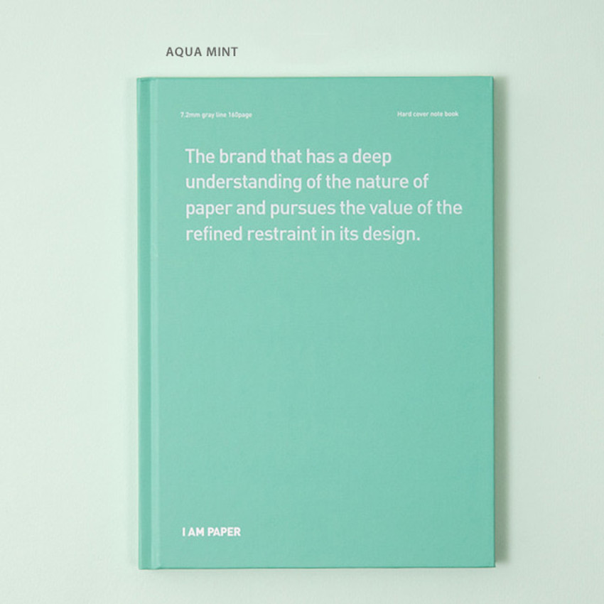 Aqua mint - Ardium I am Paper A5 size hardcover lined notebook
