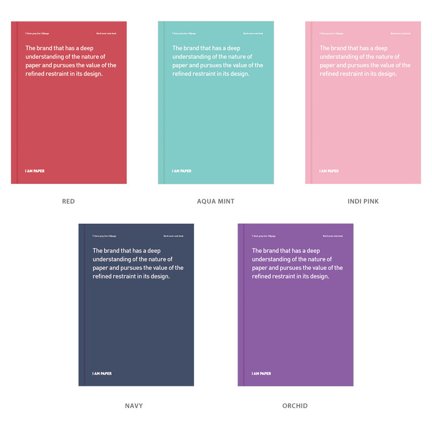 Color - Ardium I am Paper A5 size hardcover lined notebook