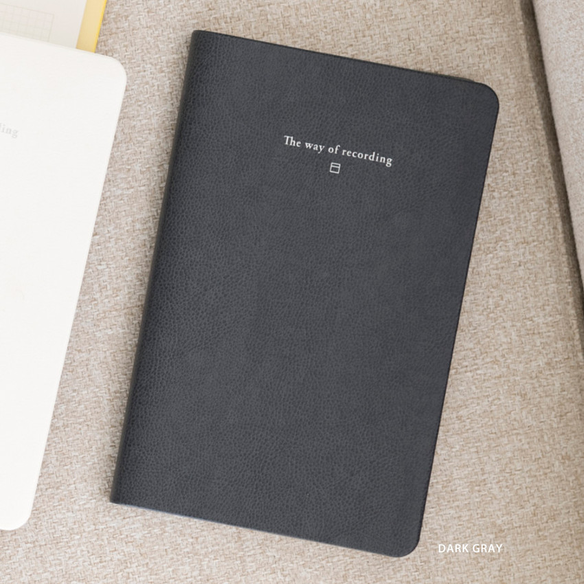 Dark Gray - Byfulldesign The way of recording grid notebook