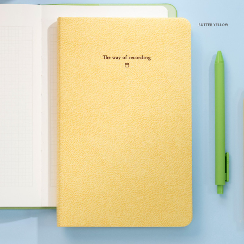 Butter yellow - Byfulldesign The way of recording grid notebook