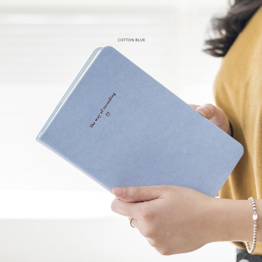 Cotton Blue - Byfulldesign The way of recording grid notebook