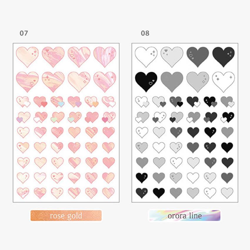Option - PLEPLE Love line clear deco sticker seal