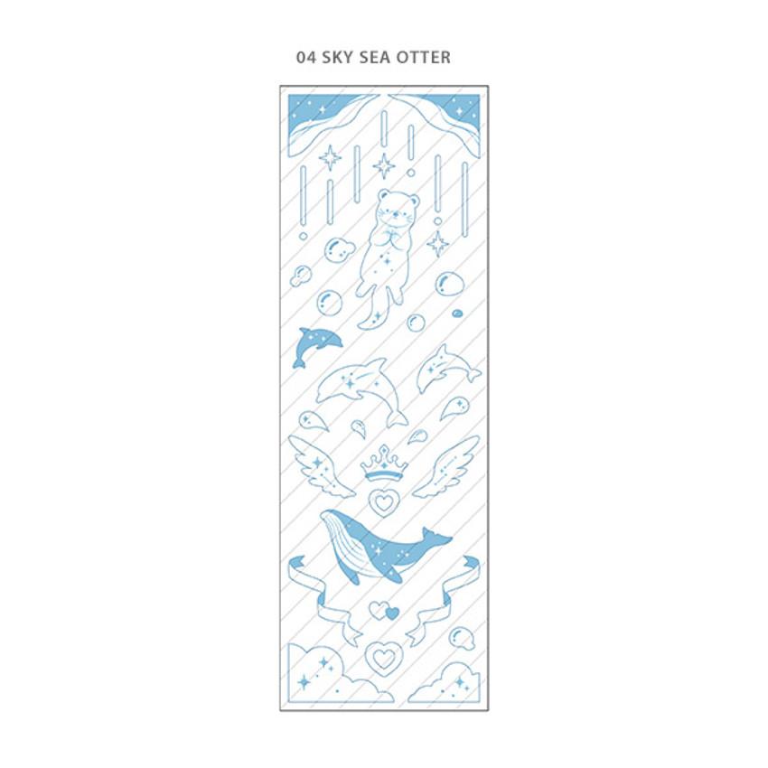 Sky Sea Otter - PLEPLE Chou Chou twinkle clear color line sticker