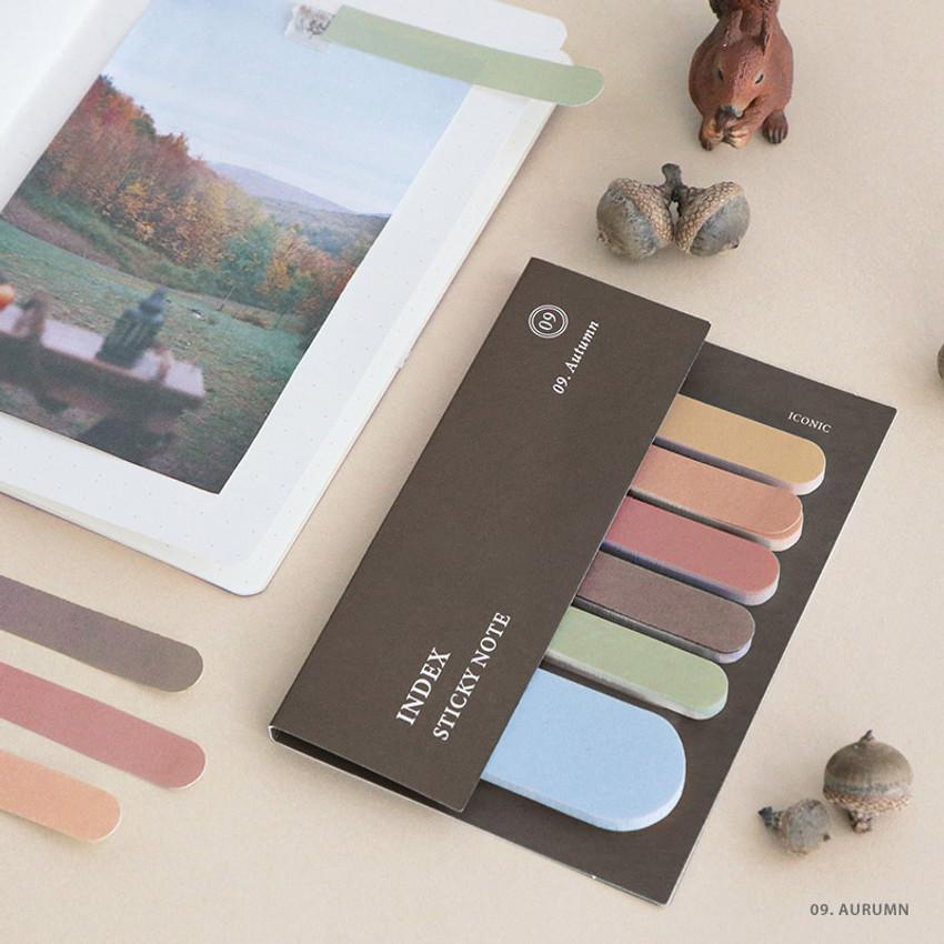 09. Autumn  - ICONIC Index sticky memo point bookmark set 05-12