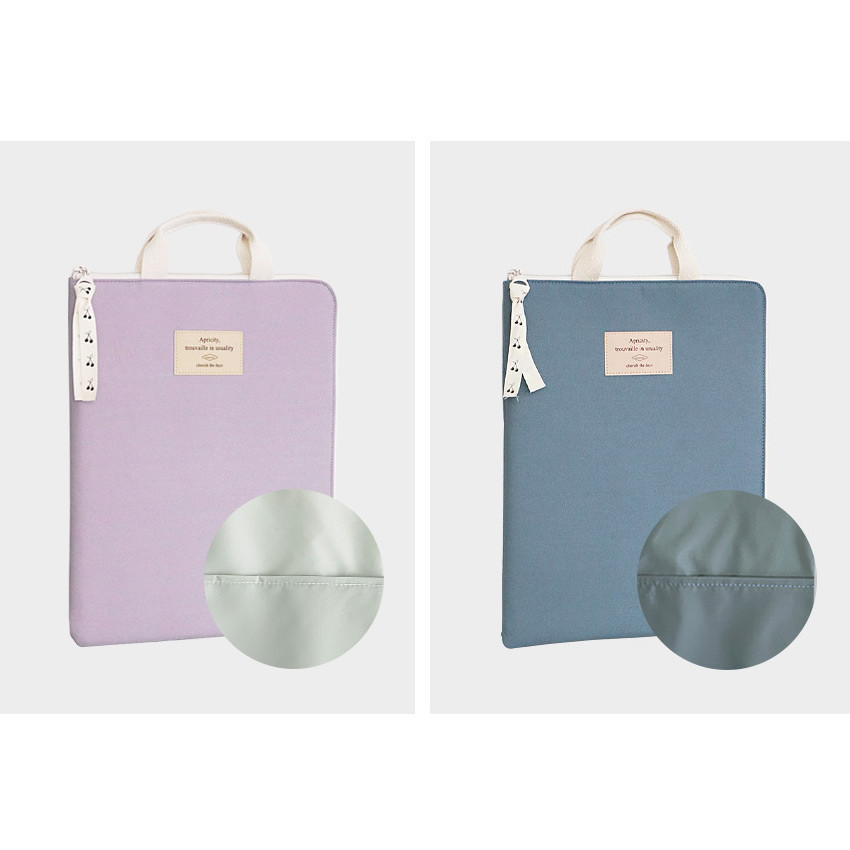 Inner color - ICONIC Cottony A4 laptop notebook zipper sleeve case
