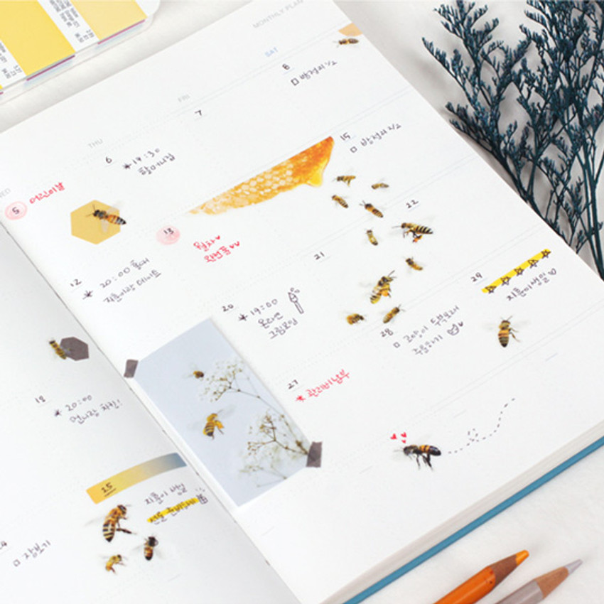 Usage example - Appree Honeybee nature clear sticker
