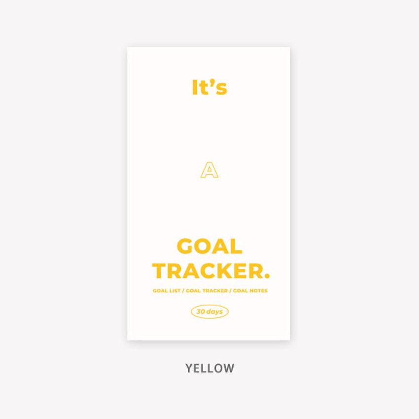 Yellow - PAPERIAN Challenge monthly goal planning tracker notebook