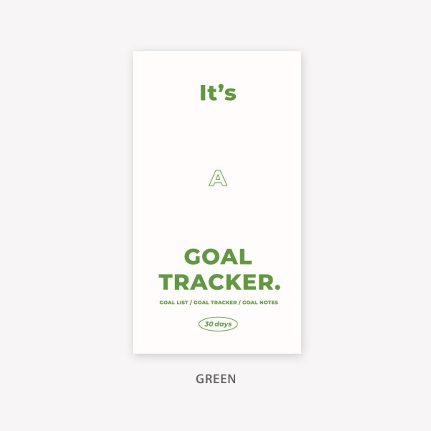 Green - PAPERIAN Challenge monthly goal planning tracker notebook