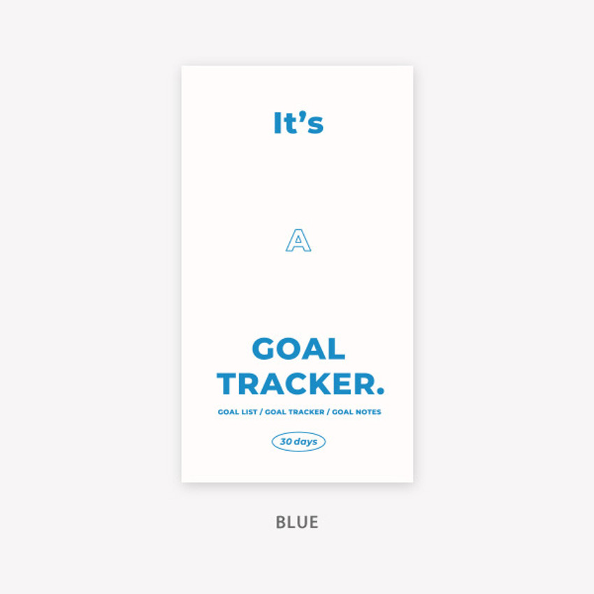 Blue - PAPERIAN Challenge monthly goal planning tracker notebook