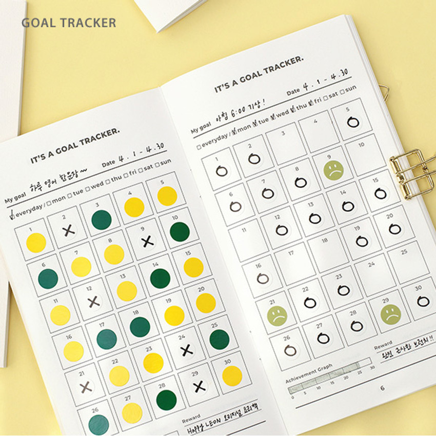 Goal tracker - PAPERIAN Challenge monthly goal planning tracker notebook