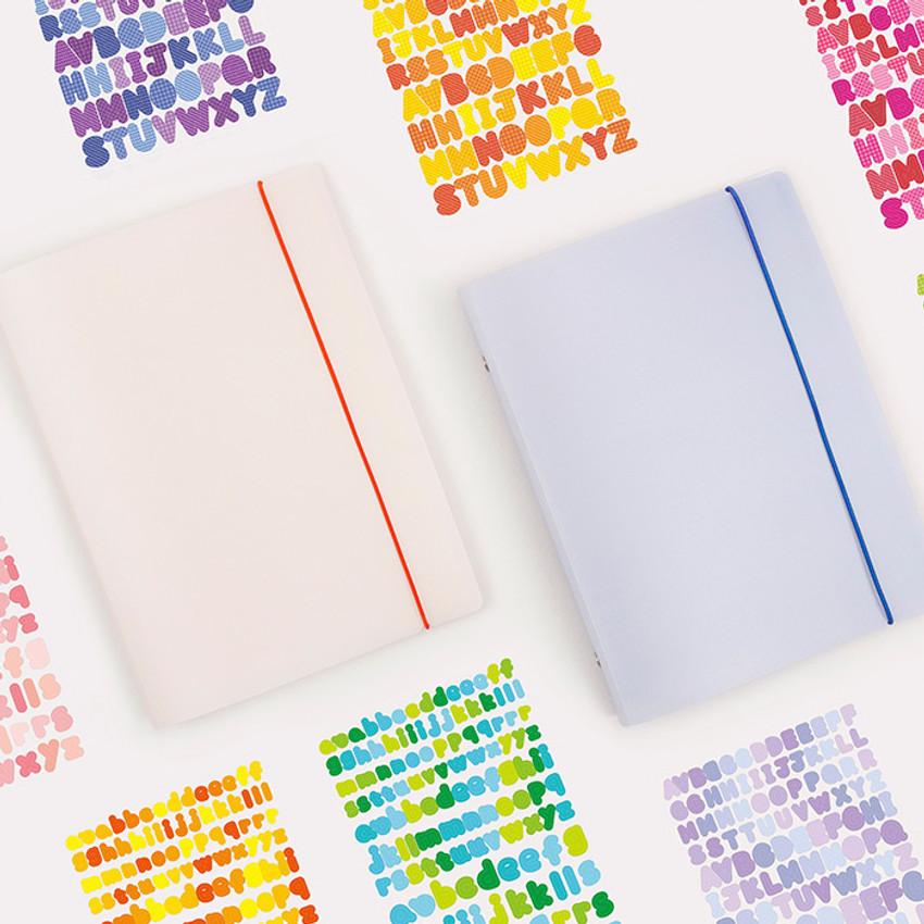 Basic 20 rings sticker organizer pocket storage book