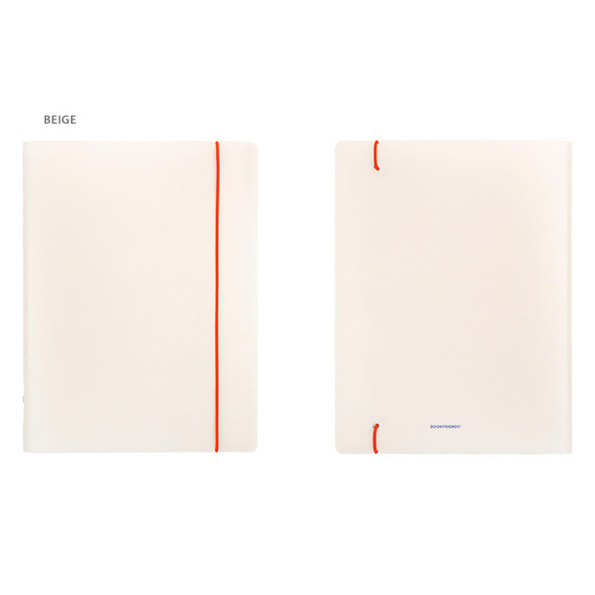 Beige - Basic 20 rings sticker organizer book with label stickers
