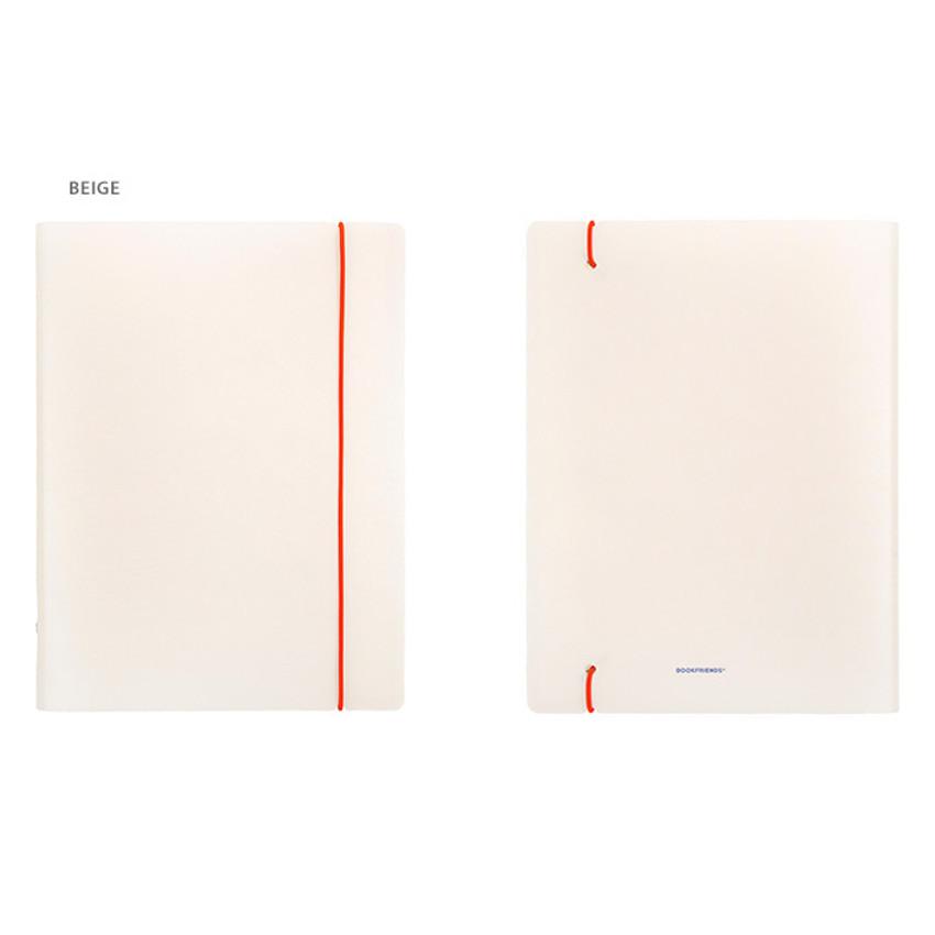 Beige - Basic 20 rings sticker organizer book with Alphabet stickers