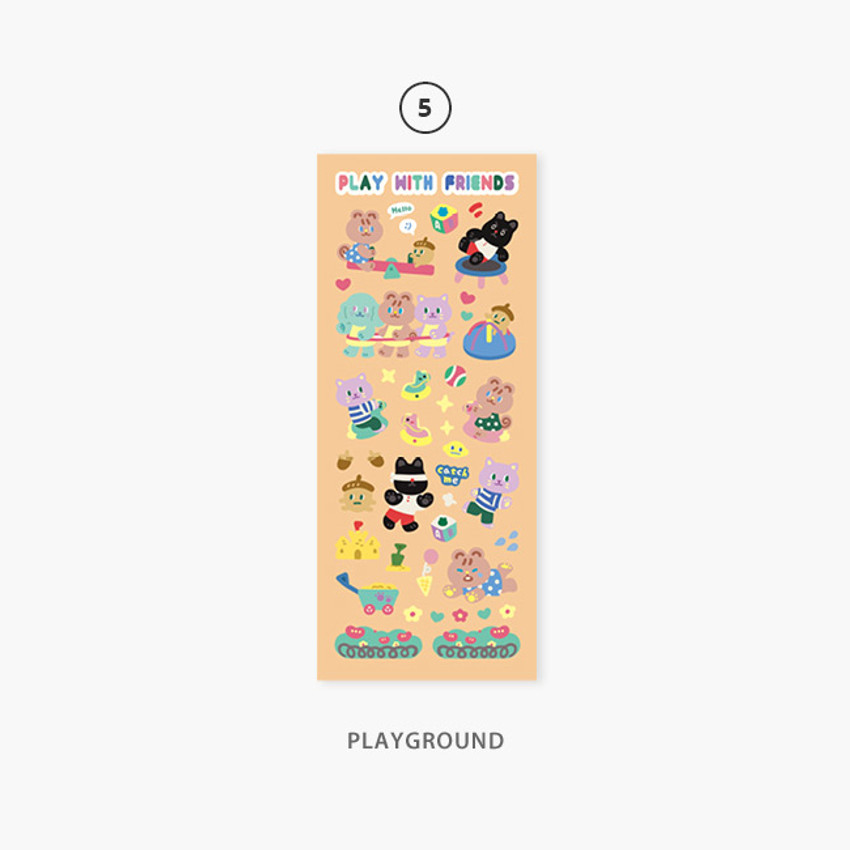 05 Playgound - Second Mansion Enfants removable sticker seal 01-09
