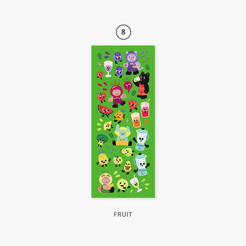 08 Fruit - Second Mansion Enfants removable sticker seal 01-09