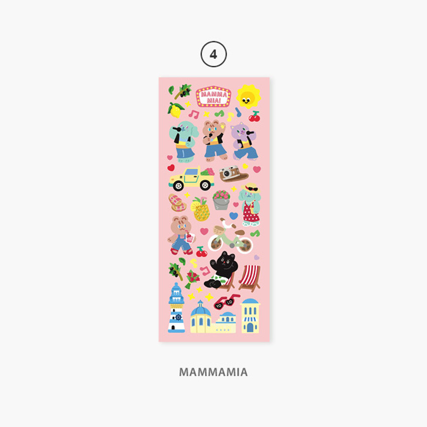 04 Mammamia - Second Mansion Enfants removable sticker seal 01-09