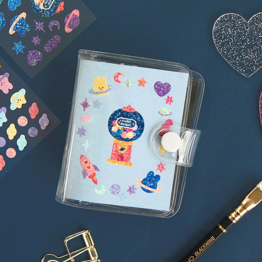 Usage example - ICONIC Sunny glitter removable sticker seal pack