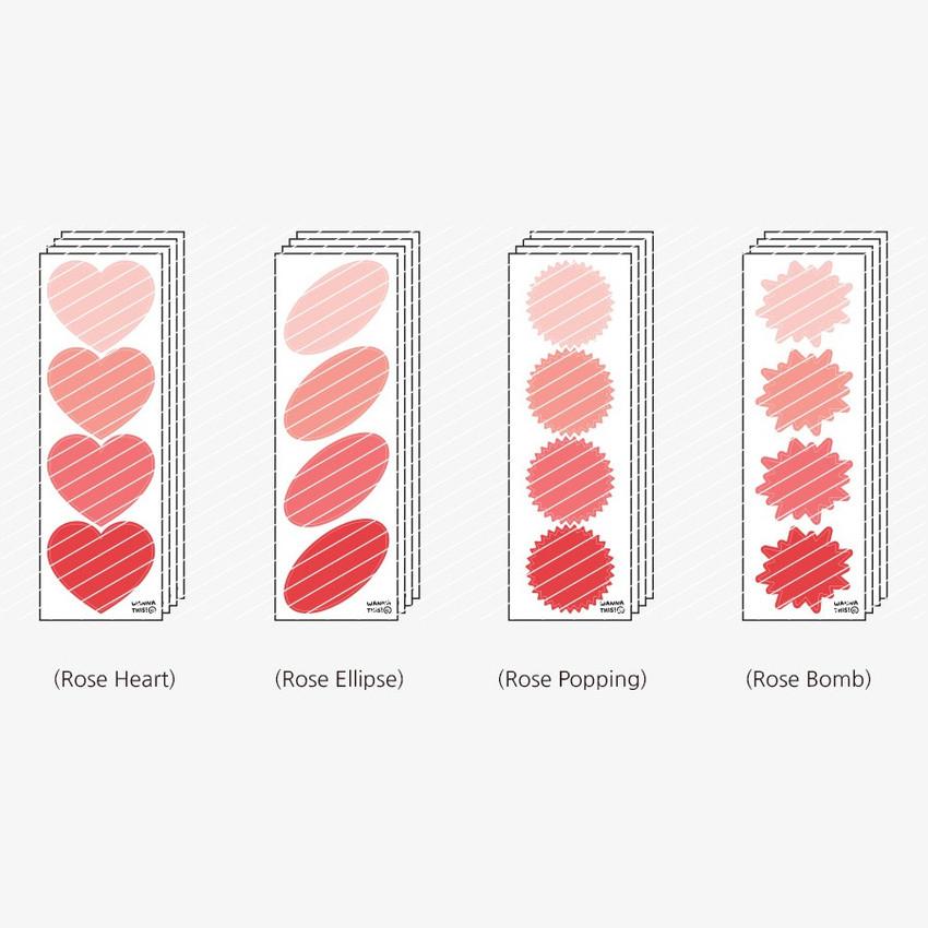 Rose - Big shape paper sticker set
