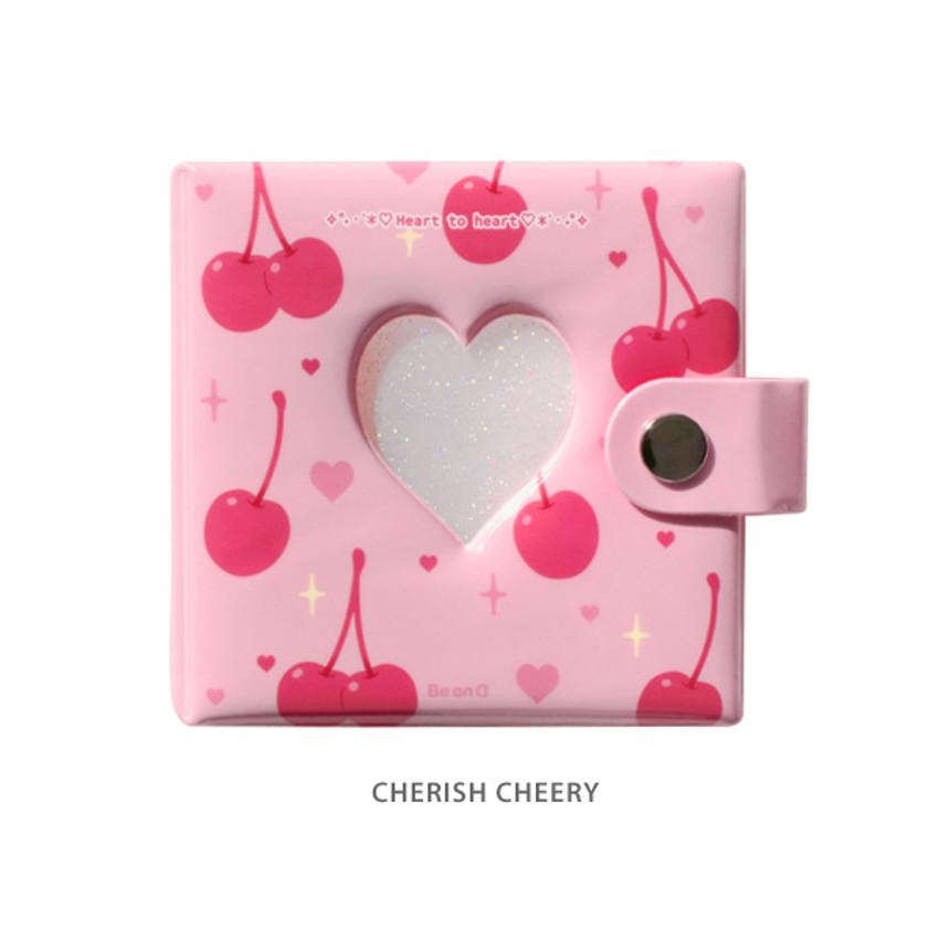Cherish cherry - Instax mini 3 ring slip in pocket photo album