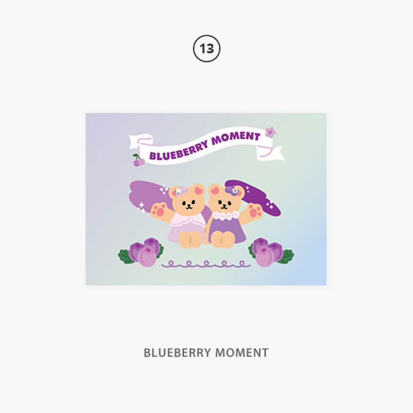 13 blueberry moment - Second Mansion Jucy and Paul Holographic Postcard 09-16