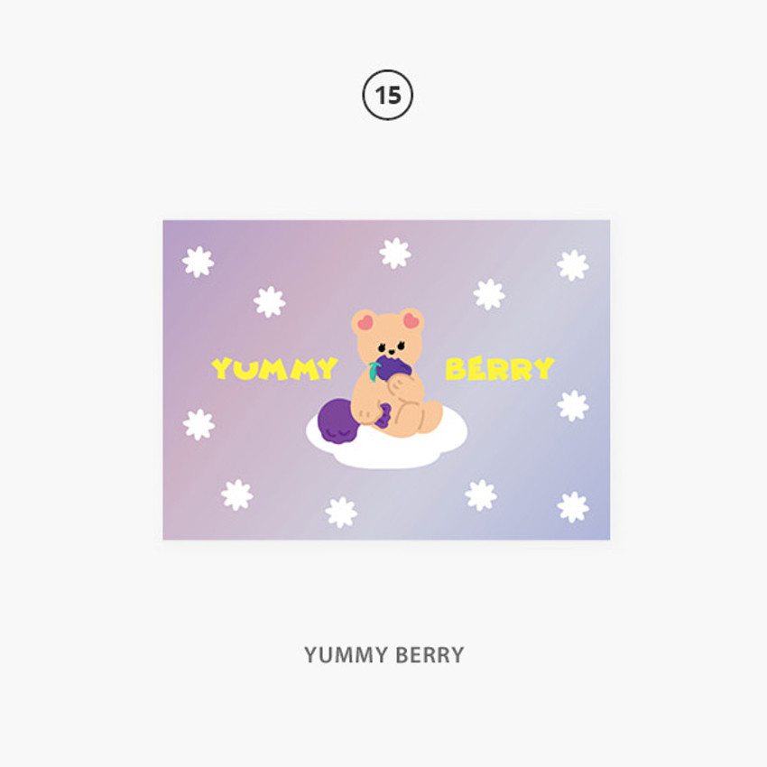 15 yummy berry - Second Mansion Jucy and Paul Holographic Postcard 09-16