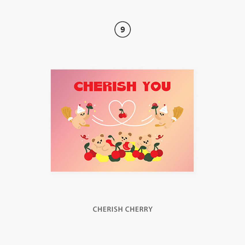 09 cherish cherry - Second Mansion Jucy and Paul Holographic Postcard 09-16