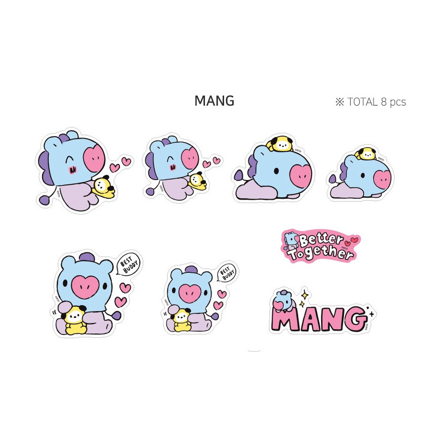 MANG - BT21 Little Buddy Baby Removable Sticker Pack