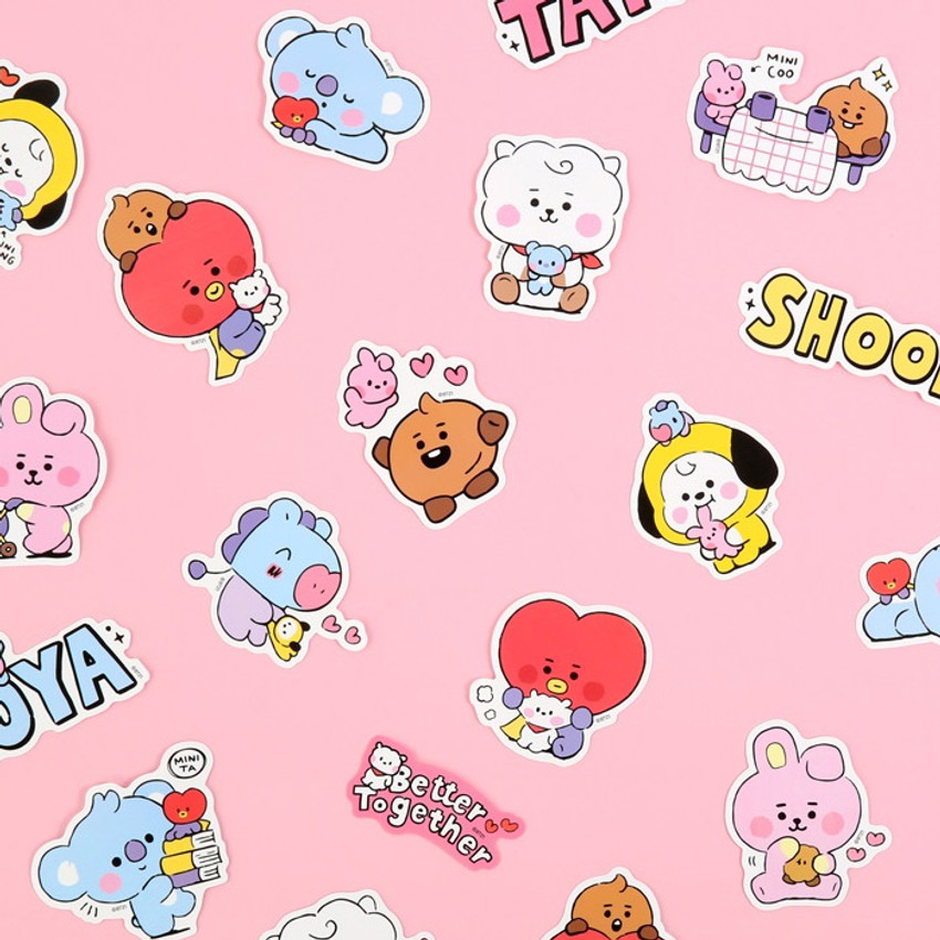 BT21 Little Buddy Baby Removable Sticker Pack
