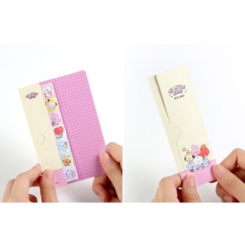 Usage example - BT21 Baby Sticky Index Bookmark Set