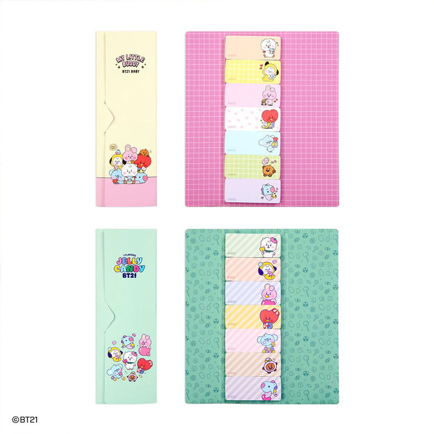 Option - BT21 Baby Sticky Index Bookmark Set