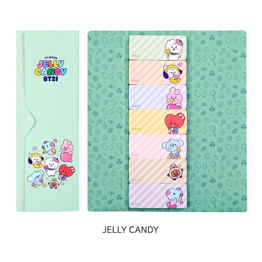 Jelly Candy - BT21 Baby Sticky Index Bookmark Set