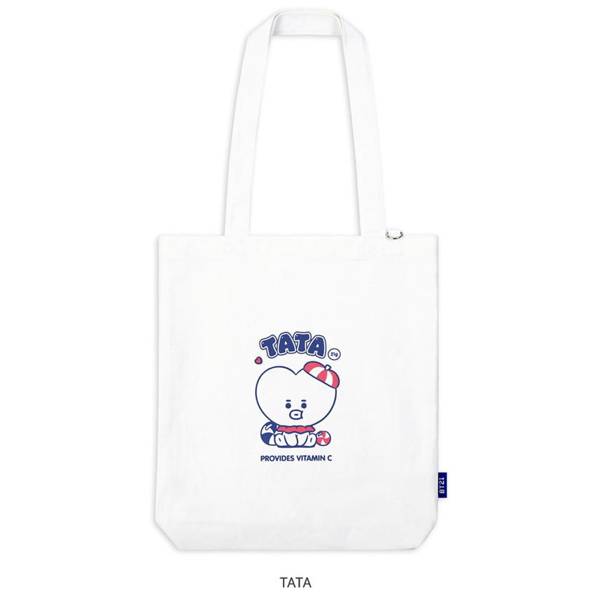 TATA - BT21 Jelly Candy Baby Canvas Cotton Tote Bag