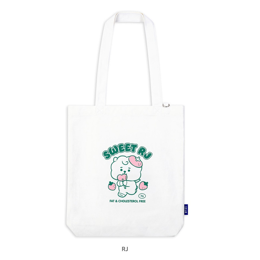 RJ - BT21 Jelly Candy Baby Canvas Cotton Tote Bag