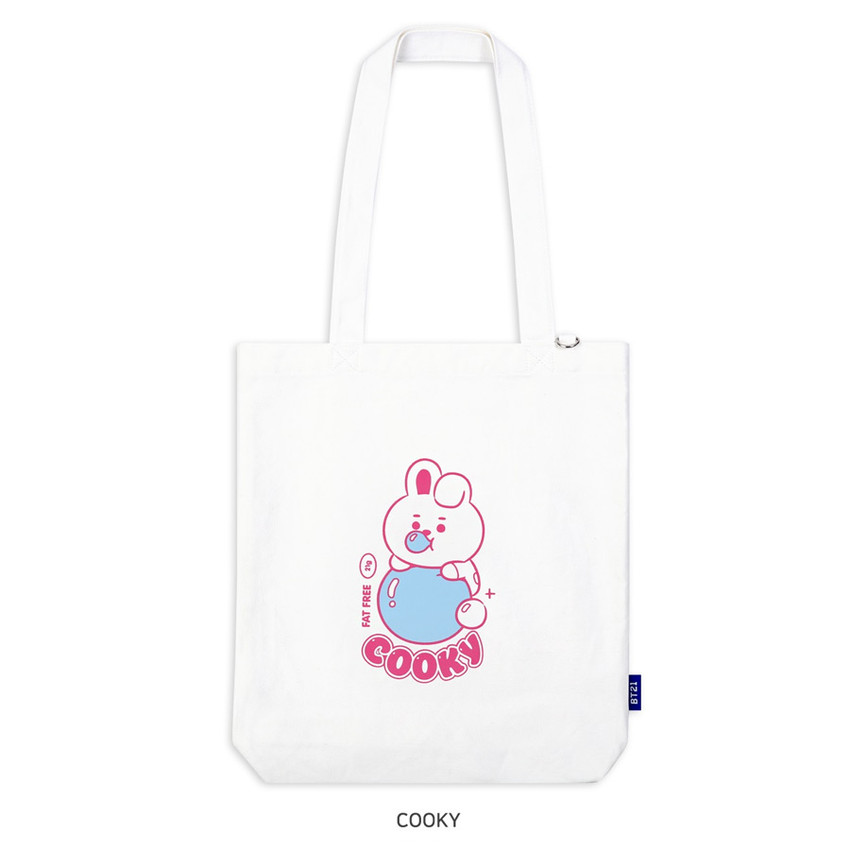 COOKY - BT21 Jelly Candy Baby Canvas Cotton Tote Bag