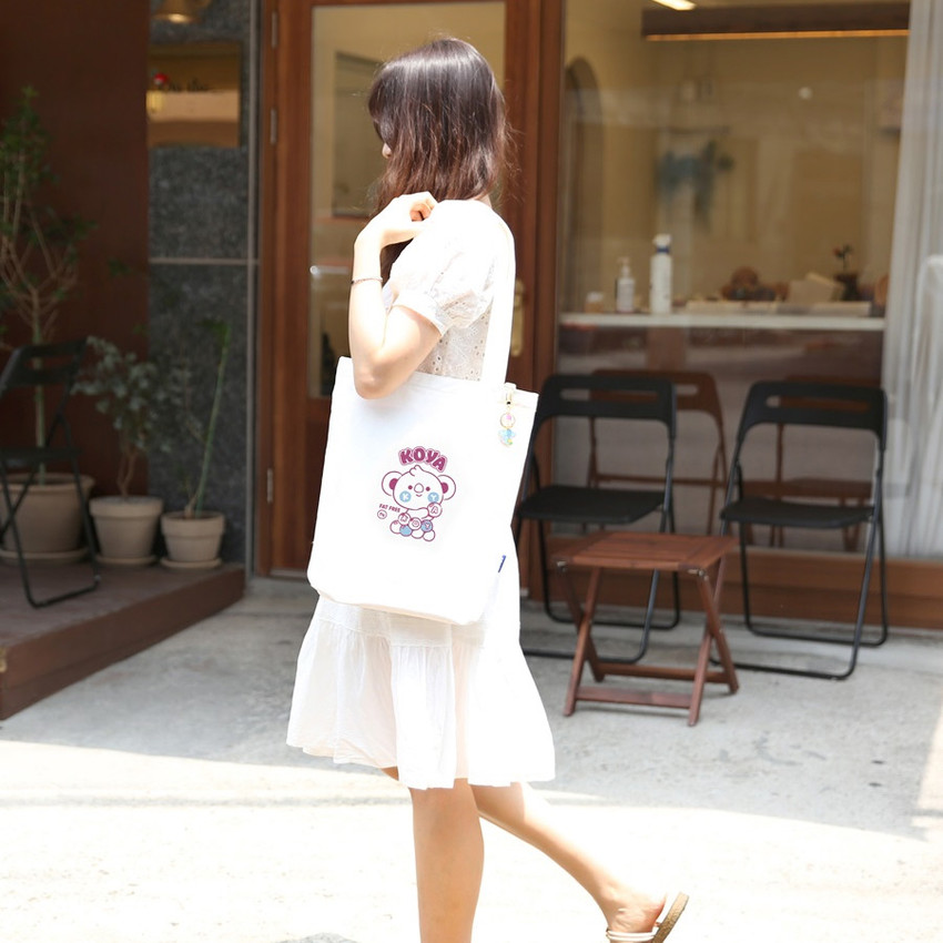 Usage example - BT21 Jelly Candy Baby Canvas Cotton Tote Bag