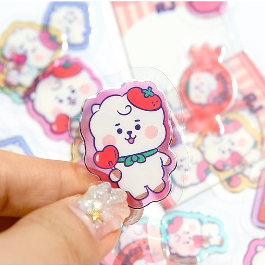 Detail of BT21 Jelly Candy Baby Clear Sticker Flake Pack