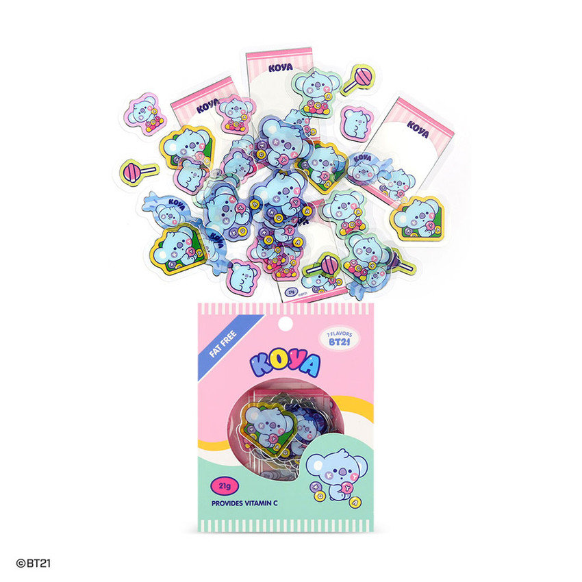 BT21 Jelly Candy Baby Clear Sticker Flake Pack