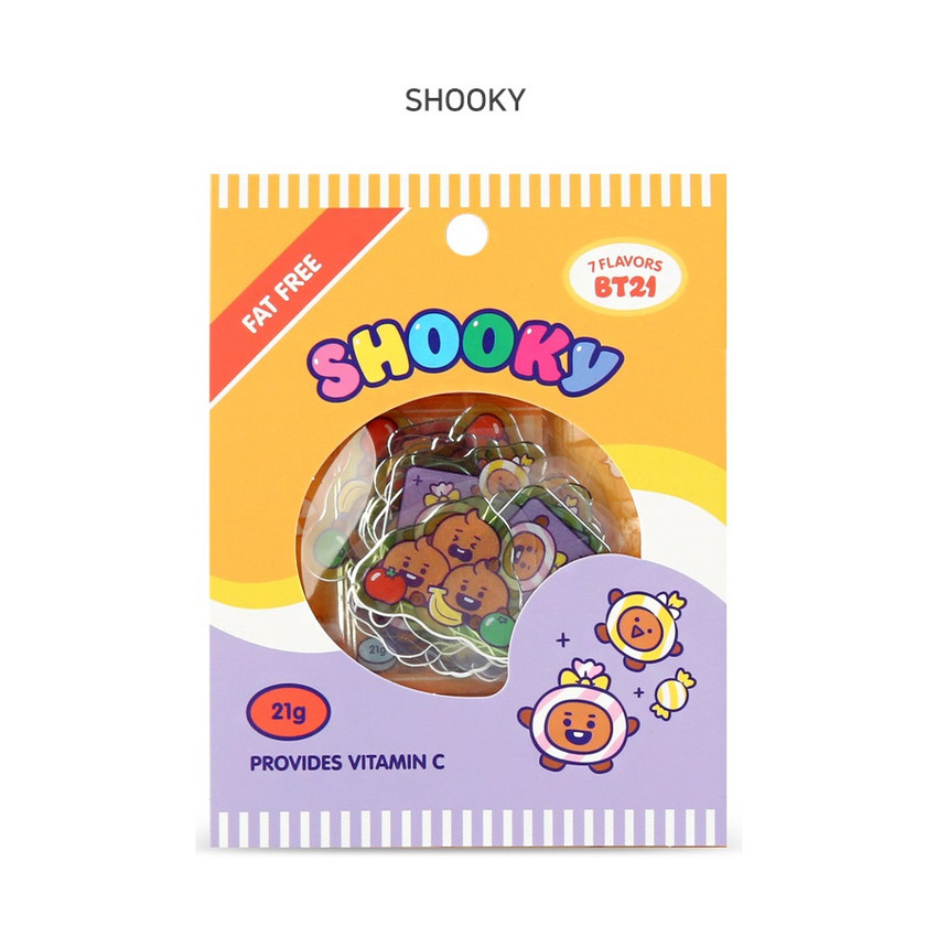 SHOOKY - BT21 Jelly Candy Baby Clear Sticker Flake Pack