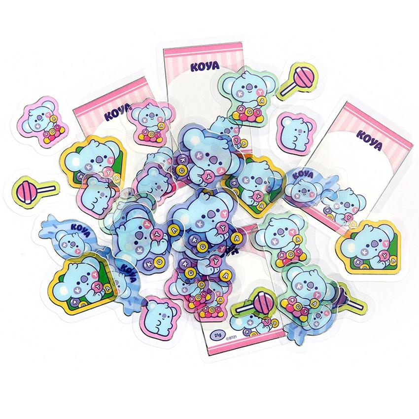 KOYA - BT21 Jelly Candy Baby Clear Sticker Flake Pack