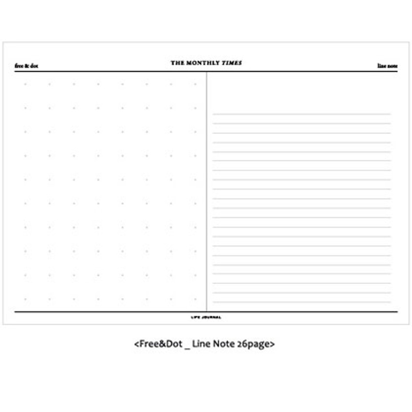 Free dot and Lined note
