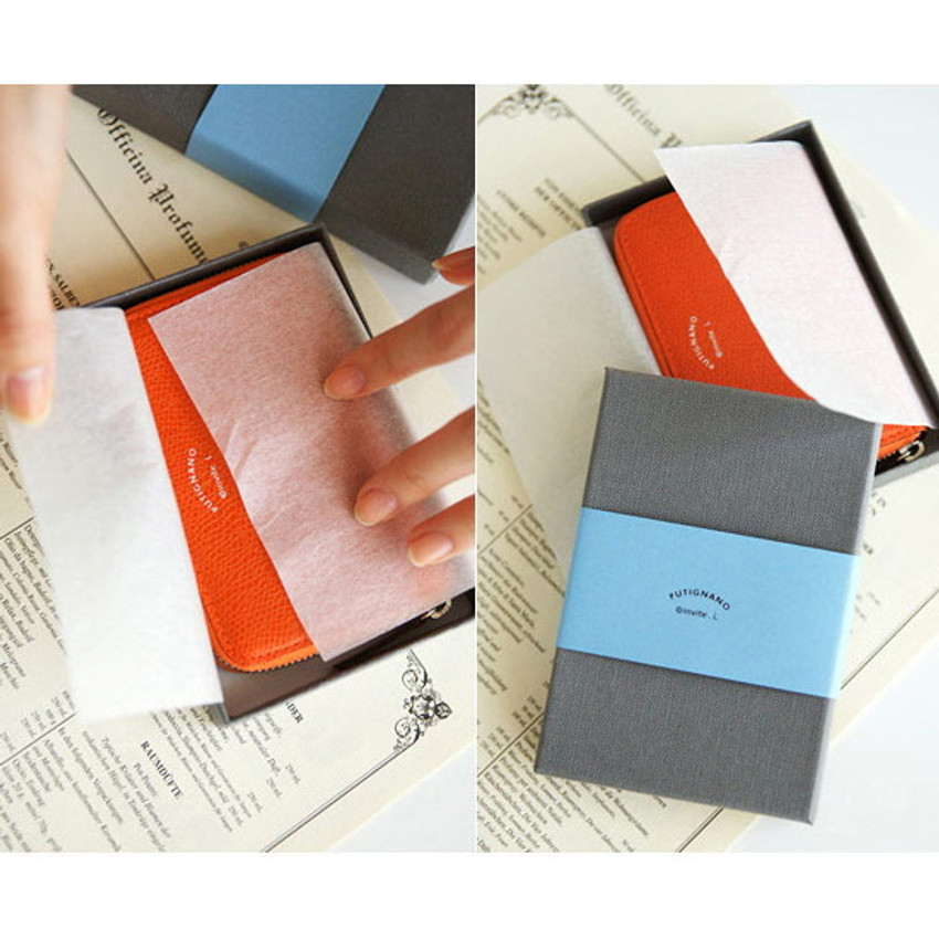 Package for Leather zipper card pouch case