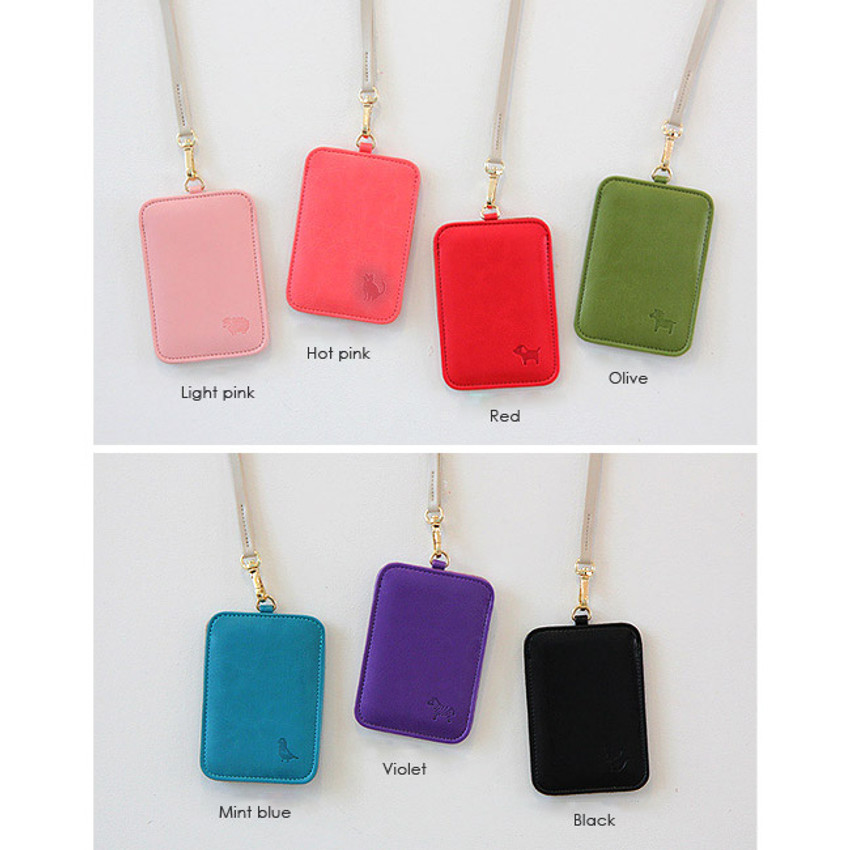 Colors of Animal soft flat card holder