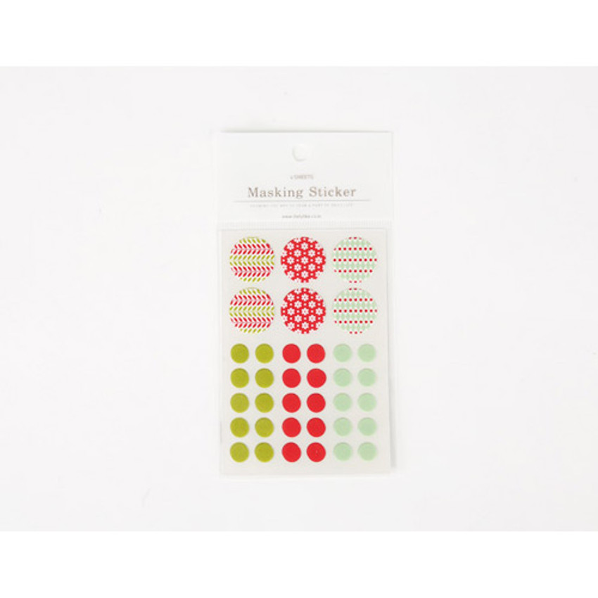 Package for Masking sticker set - daily christmas