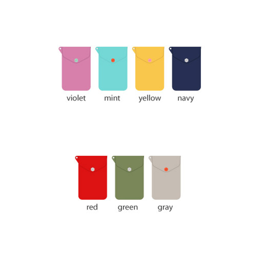 Colors of Soft chamude smartphone strap pouch